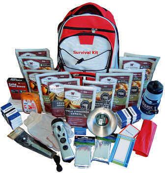 2 Week Essential Survival Backpack Red Md: 01-601