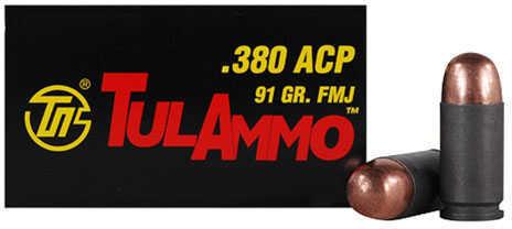 380 ACP 91 Grain FMJ Steel Case (Per 50) Md: Ta380910