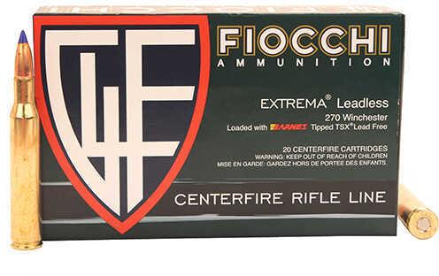 Fiocchi Ammo 270 Winchester 130 Grain, Barns Tipped TSX Lead Free Ammunition, 20 Rounds Per Box