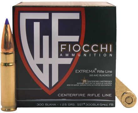 Fiocchi Ammo 300 Blackout 125 Grains, SST, Per 25 Md: 300BLKHA