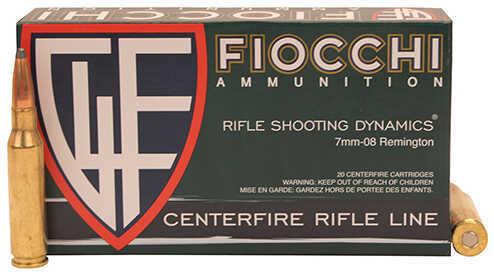 Fiocchi Ammo 7mm-08 Remington 139 Grains, Interlock FB Ammunition, 20 Per Box