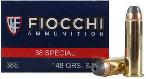 Fiocchi Ammo 38 Special 148 Grain SJHP (Per 50)