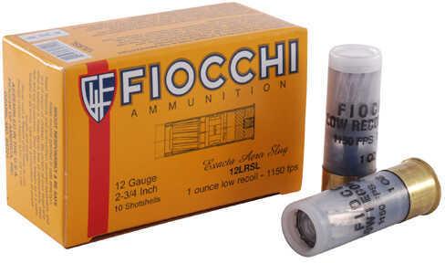 Fiocchi Low Recoild Slug 12 Gauge 2-3/4 Inch 1 Ounce Slugs, 10 Rounds Per Box