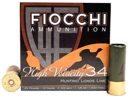 "Fiocchi Ammo Lead 12 Gauge 2.75"" Size #8 Shot 1 1/5 Oz Shotshells, 25 Per Box"