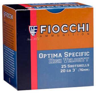 "Fiocchi Ammo Lead 20 Gauge (Per 25) 3"" Size 8, 1 1/4 Oz Md: 203HV8"