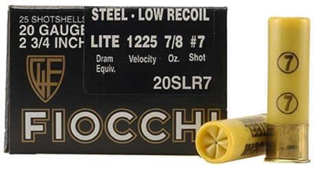 """Fiocchi Ammo Target LR 20 Gauge 2.75"""" Size 7, 7/8 Oz (Per 25) Md: 20Slr7"""