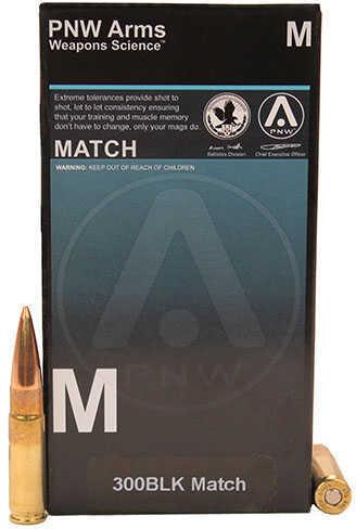PNW Arms 300 Blackout Match 125 Grain SMK HP (Per 20) Md: 300BLKMTH125HP20