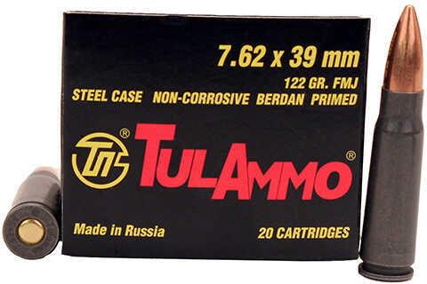 7.62X39 122 Grain FMJ Steel Case (Per 20) Md: Ul07.6201