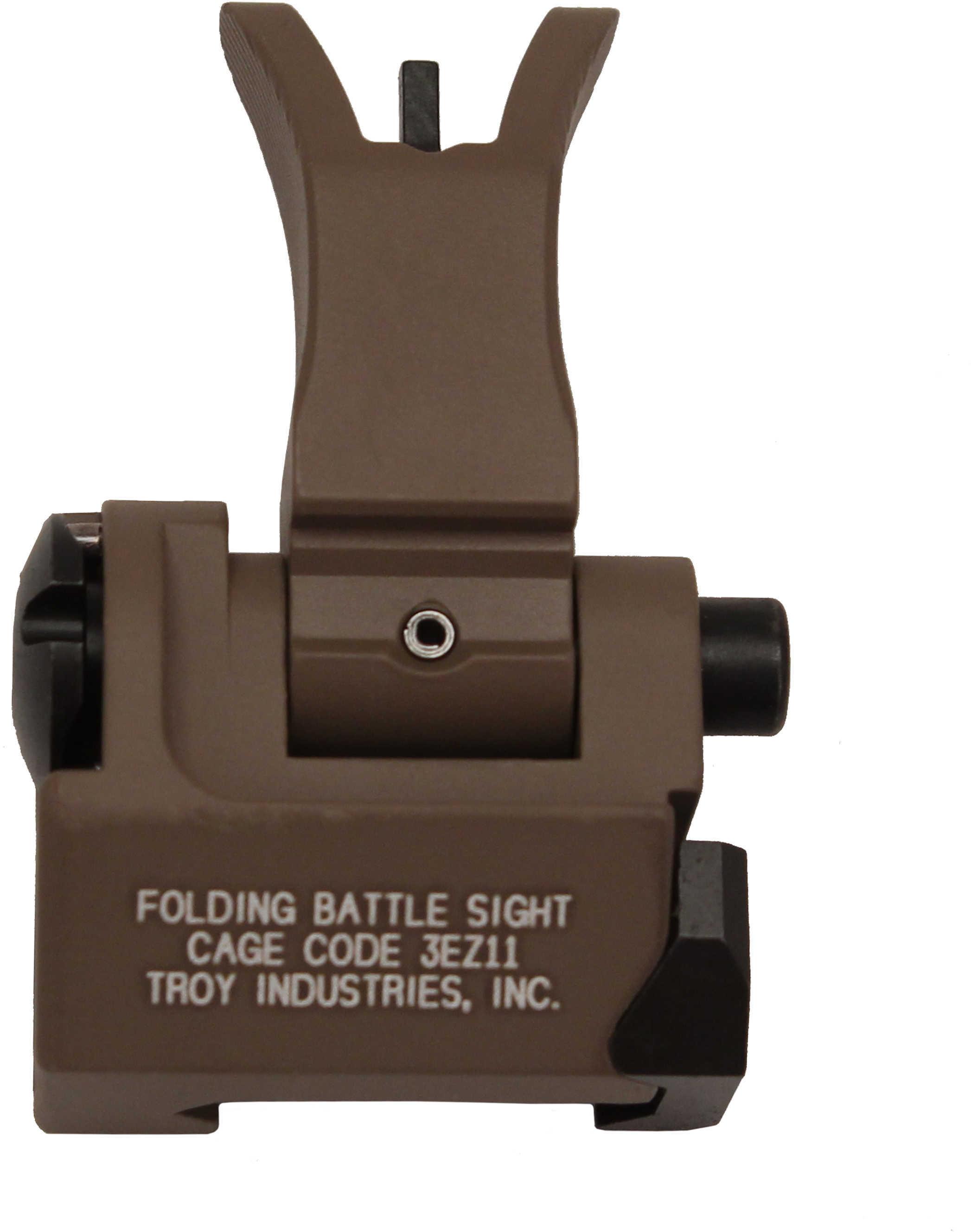 Troy BattleSight Folding Front Sight M4 style Picatinny Flat Dark Earth Finish SSIG-FBS-FMFT-00