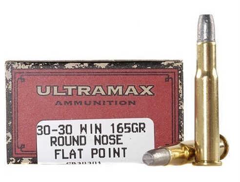 Ultramax 30-30 Winchester 165 Grain Round Nose Flat Point (Per 20) Md: Cb30301
