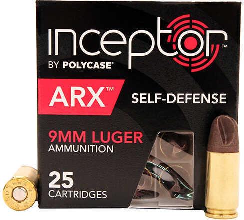 9mm 74 Grain ARX Self Defense Brass Case (Per 25) Md: 9ARXBRLUG-25