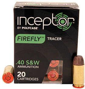 Polycase Ammunition 40 S&W 110 Grain Firefly Tracer Brass Case (Per 20) Md: 40TNPBRSWTR-20