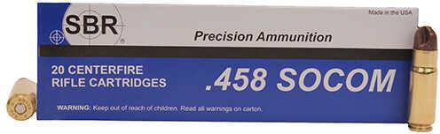 Polycase 458 SOCOM 140 Grain ARX Brass Case Ammunition, 20 Per Box
