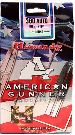Hornady XTP American Gunner 380 Automatic 90 Grain Hollow Point Ammunition, 75 Rounds Per Box