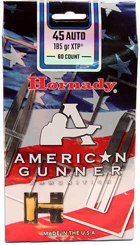 Hornady XTP American Gunne 45 Auto 185 Grain Ammunition, 60 Rounds Per Box