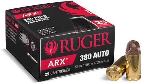 Polycase Ammunition 380 ACP Ruger® 56 Grain ARX Ammunition, 25 Rounds Per Box
