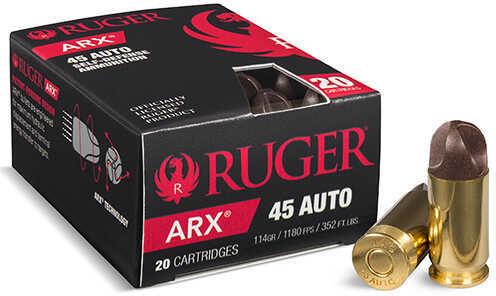 Polycase Ammunition 45 ACP Ruger®, 114 Grains, ARX, Per 20 Md: 45ARXRUG-20