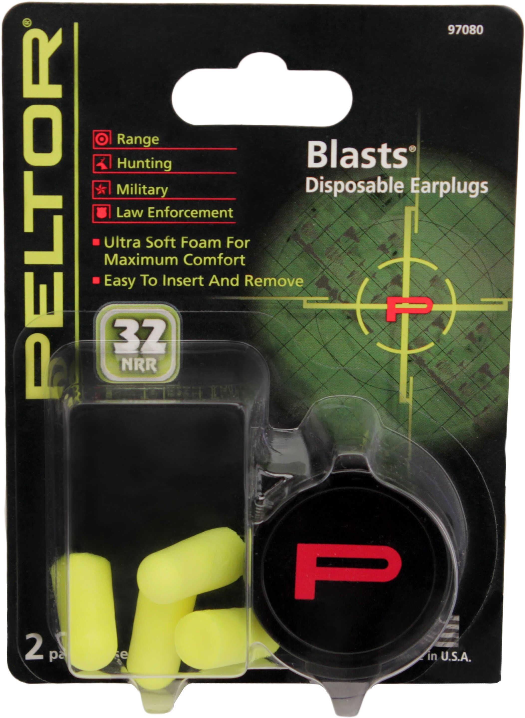 3M Peltor 97080 Disposable Earplugs Earplugs 33 Db Foam Yellow