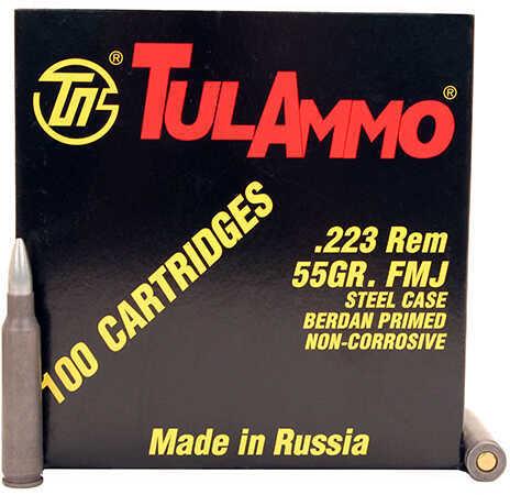 Tulammo 223 Remington 55 Grains, Full Metal Jacket, Per 100 Md: Ta223100