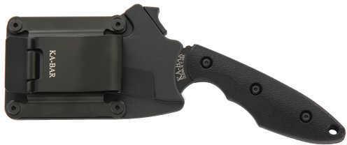 "Ka-Bar 2486 TDI Hell Fire Fixed 3.6"" 1095 Cro-Van Recurve Tanto Nylon Black"