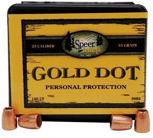 Speer 25 Caliber ACP 35 Grains Gd HP Per 100 Md: 3985 Bullets