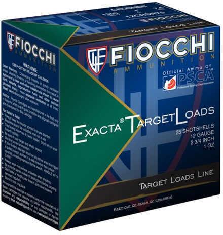 """Fiocchi Ammo Exacta 12 Gauge 2 3/4"""", 8 Shot, 1 oz, Per 25 Md: 12CRN8"""