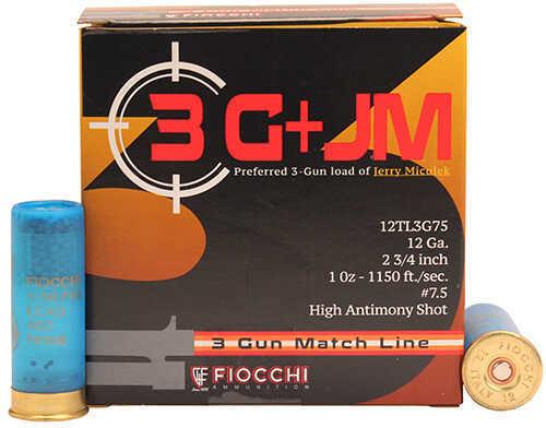 """Fiocchi Ammo 3 Gun Match, 12 Gauge 12 Gauge, 2 3/4"""", 1 Oz, 7 1/2 Shot, 25 Rounds Md: 12Tl3G75"""