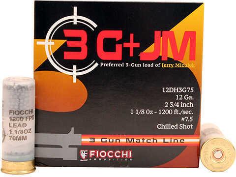 """Fiocchi Ammo 3 Gun Match, 12 Gauge 2 3/4"""", 7 1/2 Shot, Per 25 Md: 12Dh3G75"""