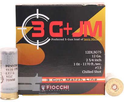 Fiocchi 3 Gun Match, 12 Gauge 2.75 Inch 1 Ounce #7.5 Shot Shotshells, 25 Per Box