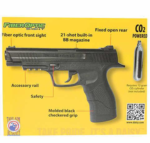Daisy 5415 PowerLine Air Pistol Semi-Automatic .177 BB Black