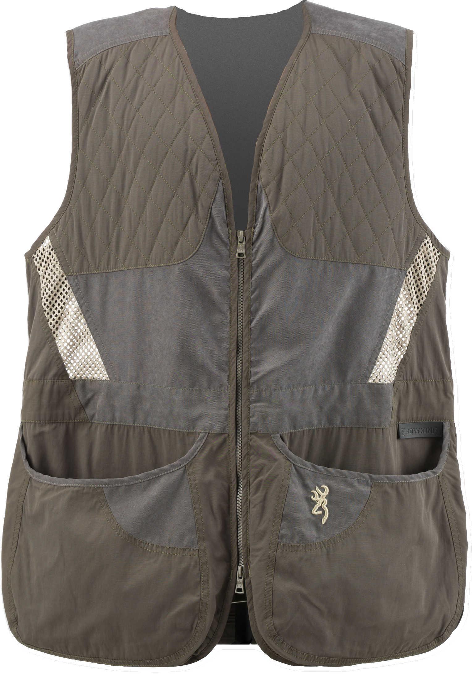 Browning Mens Summit Vest, Green/Dark Grey Large Md: 3050318403