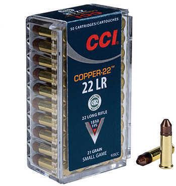 CCI 22 Long Rifle 21 Grains, Copper Hollow Point, Per 50 Md: 925CC