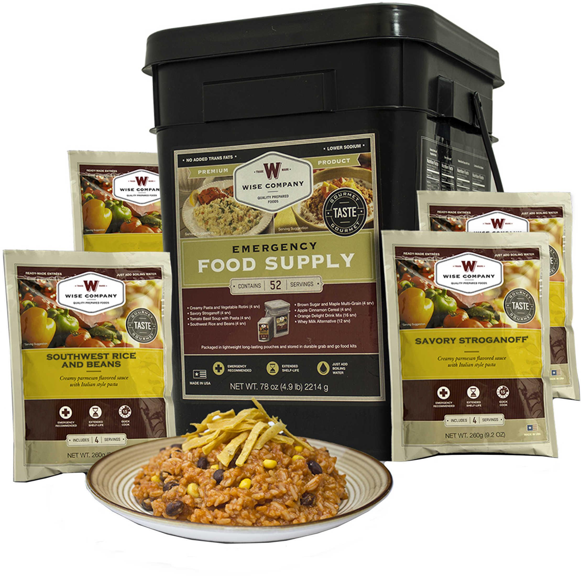 Wise Foods 01152 Emergency Supplies 52 Serving Prepper Pack