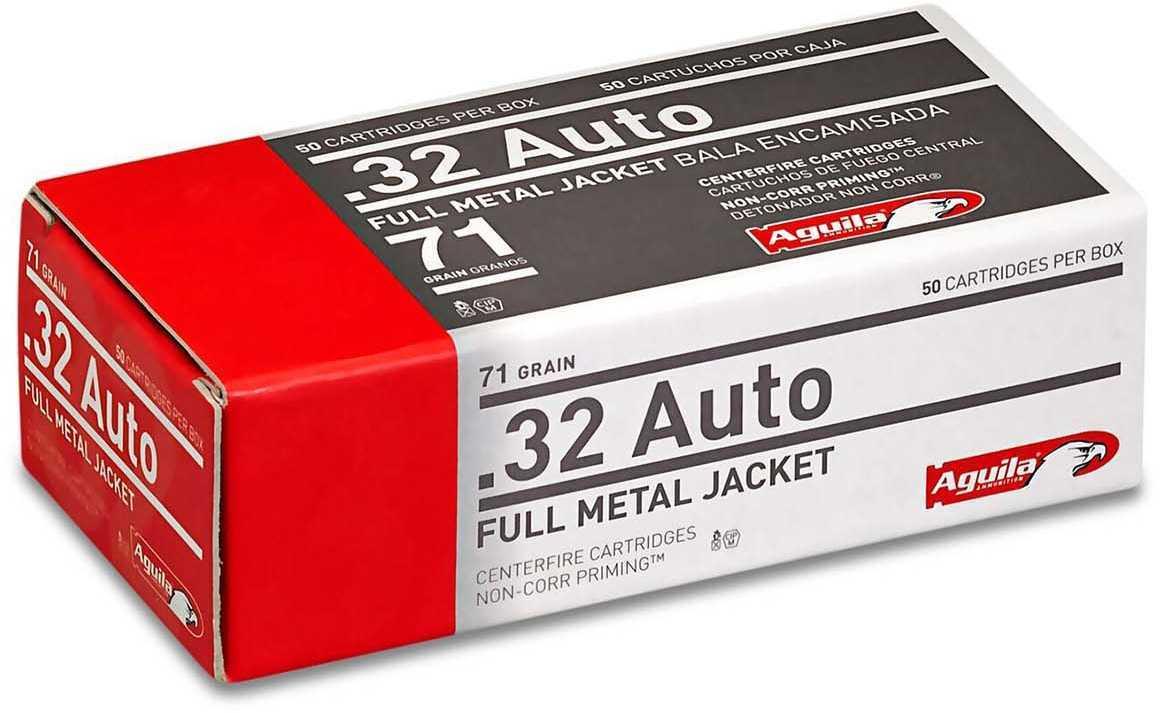 Aguila 1E322110 Pistol 32 Auto 71 GR Full Metal Jacket (FMJ) 50 Box