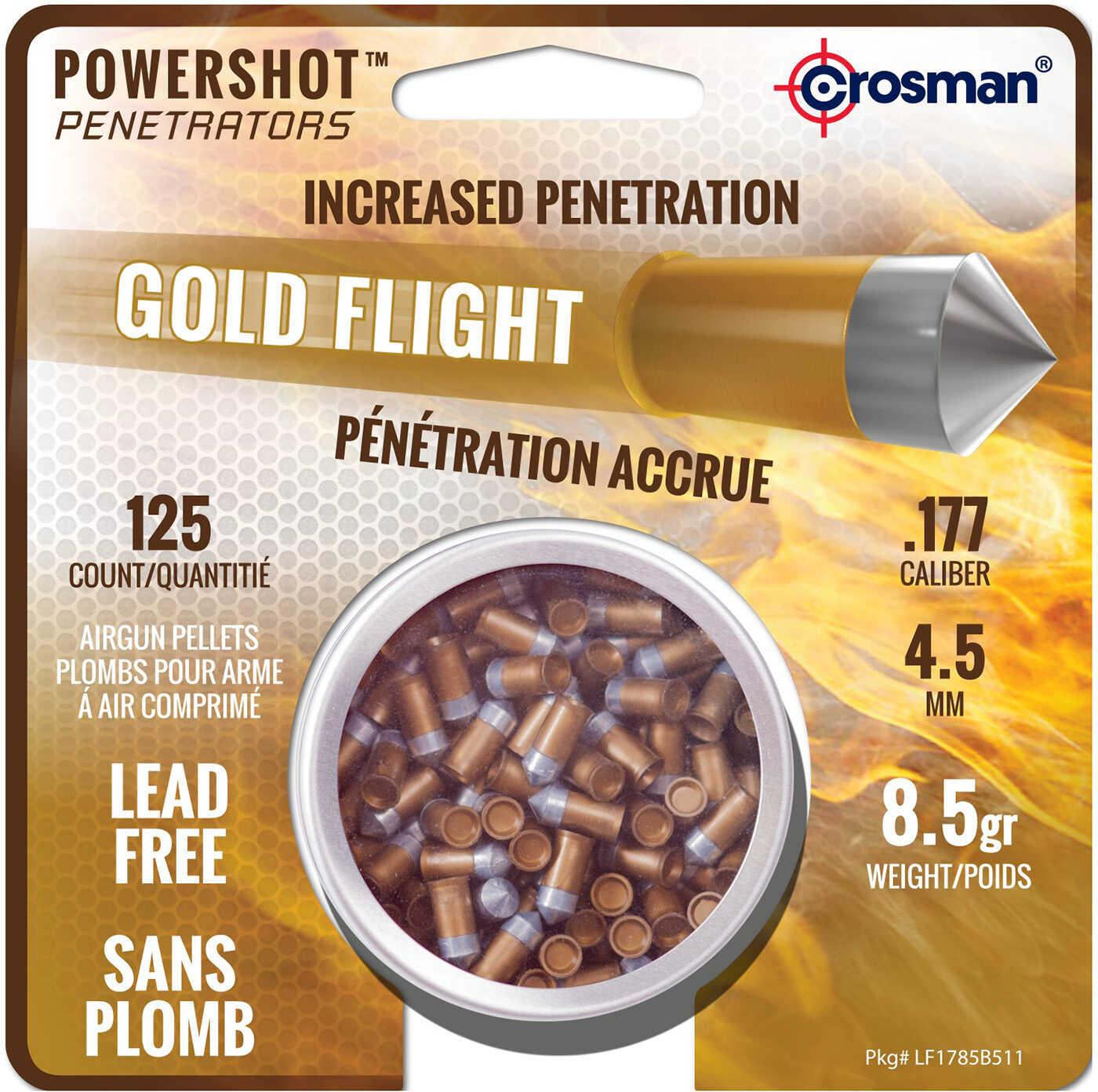 Crosman Pellets Gold Flight Pentetrators 8.5 Grains 125ct