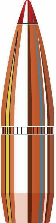 Hornady Interlock SST Boat Tail 30 Caliber 165 Grain Component Bullets, 100 Per Box