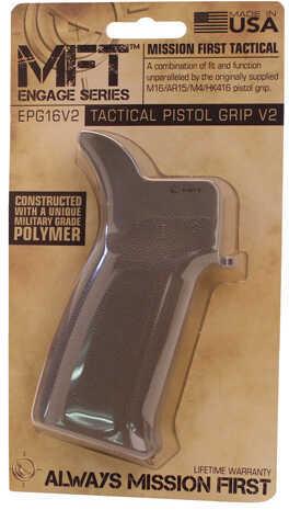 Mission First Tactical Engage AR15/M16 Pistol Grip 15° No Finger Grooves, Scorched Dark Earth Md: EPG16V2SDE