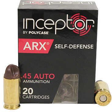 Polycase Ammunition 45 Auto 118 Grains, ARX, Per 20 Md: 0045AUIARX118-001B00020P
