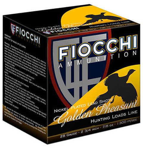"""FIOCCHI Ammo Golden Pheasant 28 Gauge #7.5 3"""" 1 1/16Oz Per 25"""