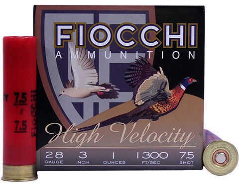 "FIOCCHI 28 Gauge 3"" 1Oz #7.5 High Velocity Per 25"
