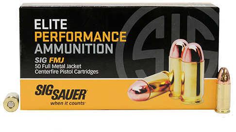 Sig Sauer Elite Performance Ammunition 9mm, 147 Grains, EliteBall, Full Metal Jacket, Per 50 Md: E9MMB3-50