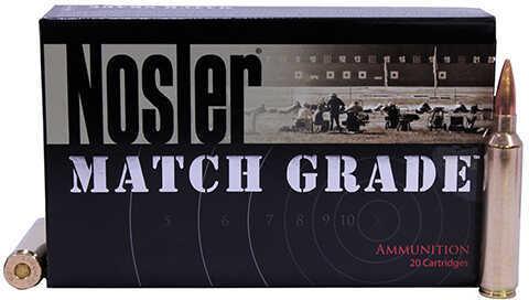 28 Nosler Match Grade Ammunition, 168 Grains, Hollow Point Boat Tail, Per 20 Md: 51287