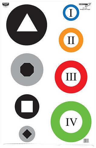 "Birchwood Casey Eze-Scorer Target 23""x35"", Circle Drill, Per 100 Md: 37071"