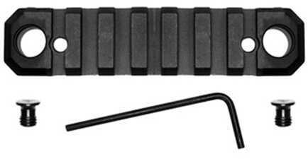 "GrovTec US Picatinny Rail with Push Button Base, 3.10"" Length, 5 Slots, Keymod, Black  Md: GTSW231"