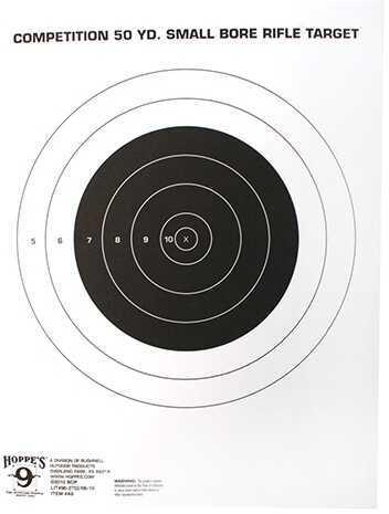Hoppes Rifle Target 50Yd Single Bull TQ-3/1 20 Pack Md: A9