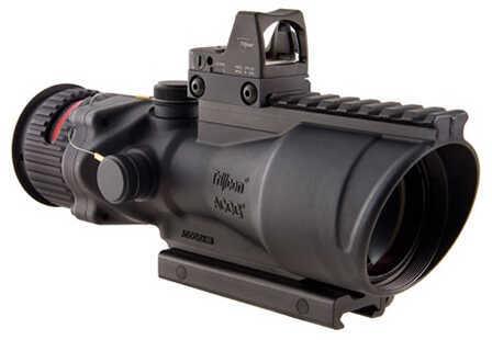 Trijicon 6x48mm ACOG Dual Illumination Scope - Red Chevron .223 Ball Ret, 6.5 MOA RMR Type 2 Sight, and TA75 Mount, Blac