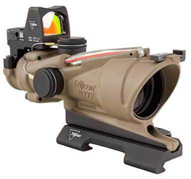 Trijicon 4x32mm ACOG Dual Illumination Scope - Red Crosshair Reticle with 3.25 MOA RMR Type 2 Sight, Flat Dark Earth Md: