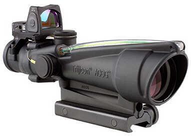 Trijicon 3.5x35mm ACOG Dual Illuminated Scope - Green Chevron .223 Ballistic Reticle, 3.25 MOA RMR Type 2 Sight, TA51 Mo
