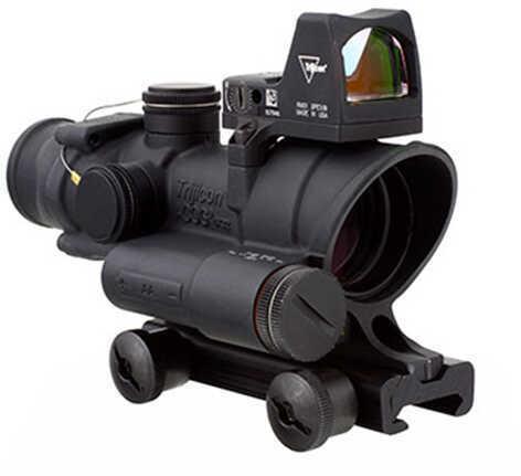 Trijicon 4x32mm ACOG Red LED Illuminated Scope - .223 Crosshair Reticle, TA51 Mount & 3.25 MOA RMR Type 2 Red Dot Sight,