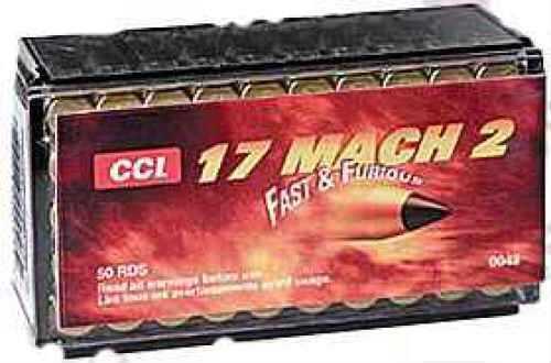 CCI 17 Mach 2 17 Grain Vmax Per 50 Ammunition Md: 0048